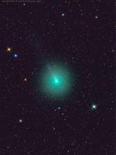 la cometa 46P/Wirtanen ripresa da Rolando Ligustri l'11 dicembre 2018 con rifrattore APO 80/380 e camera ccd a colori